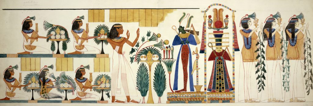 origin of blush- ancient Egyptians